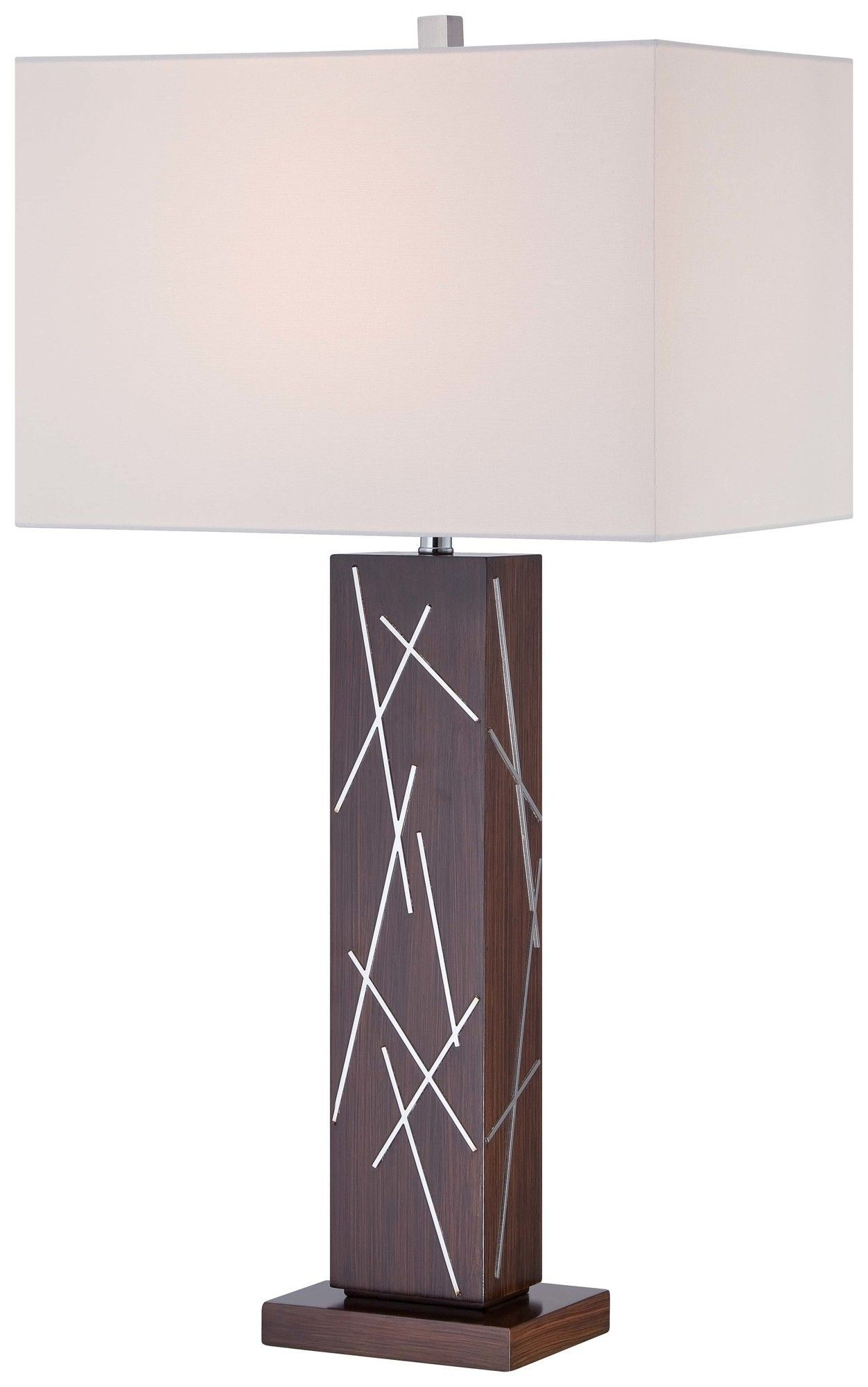 """30.5"""" Table Lamp with Rectangular Shade"""