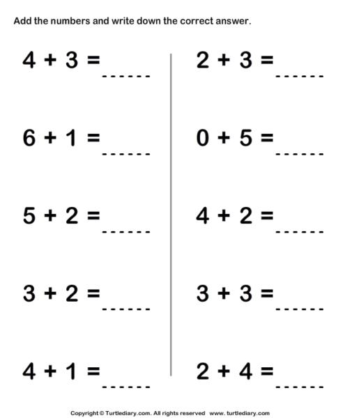 Single Digit Addition Math Worksheets Kindergarten Math Worksheets Addition Addition Worksheets Math Worksheets