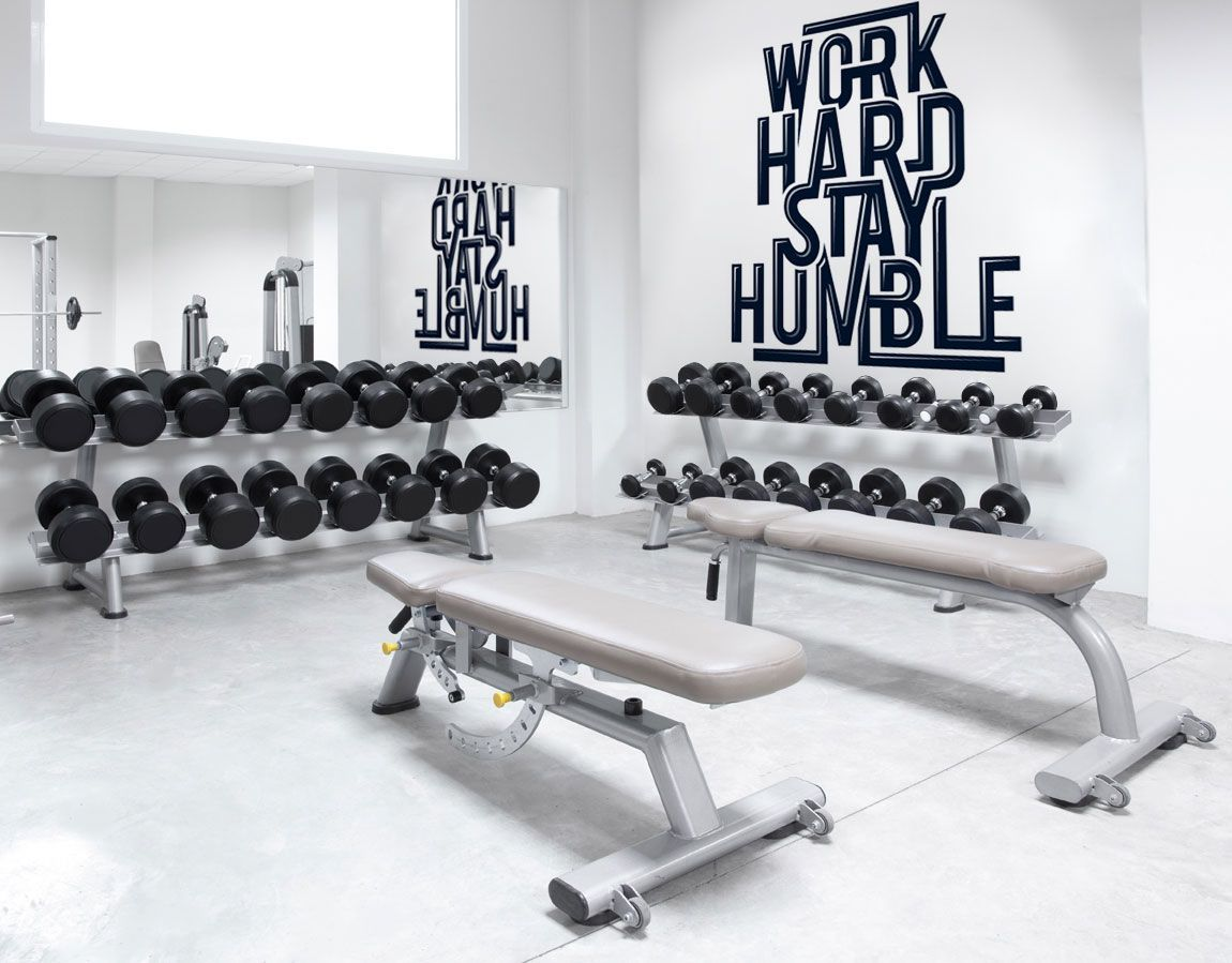 Motivational wall murals for your gym or wellness center wall