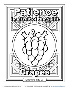 Fruit Of The Spirit For Kids Patience Coloring Page Fruit Of The Spirit Fruit Coloring Pages
