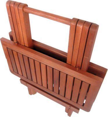 Garden Pleasure Tisch Garten Balkon Esstisch Klapptisch Eukalyptus - zubehor fur den outdoor bereich