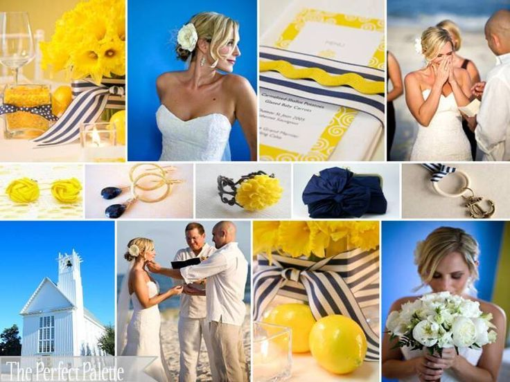 sea& beach, blue and yellow