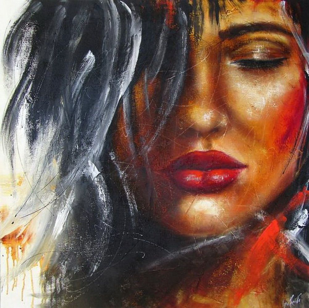 Pin En Rostros Artísticos Pinturas Y Dibujos Acuarelas óleos Etc