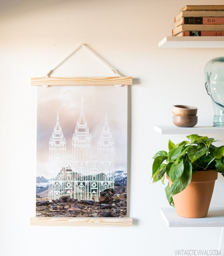 5 Minute Wooden Hanging Picture Frame (So Easy | Cosas