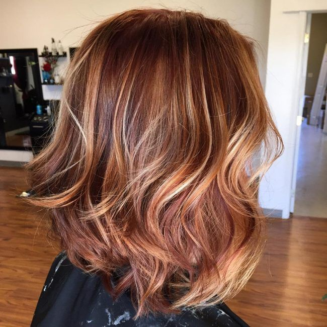 Deep Rose Gold With Caramel Lowlights Beauty Hair Rose Gold