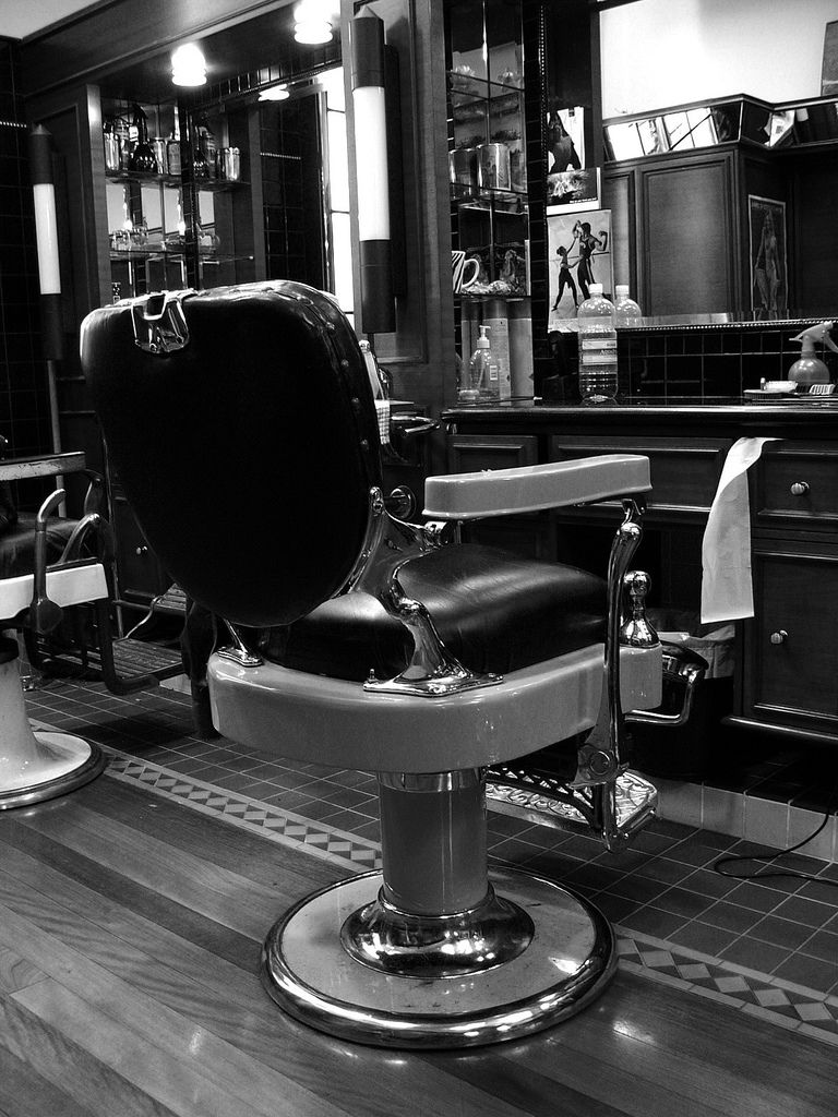 Vintage barber shop chairs - An Old Fashioned Barber Chair Monchrome By Craig Jewell Photography