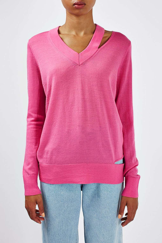 Topshop BOUTIQUE V NECK JUMPER - Pullover - pink Collections Livraison Gratuite Remise Professionnelle kUOGUlNAyd