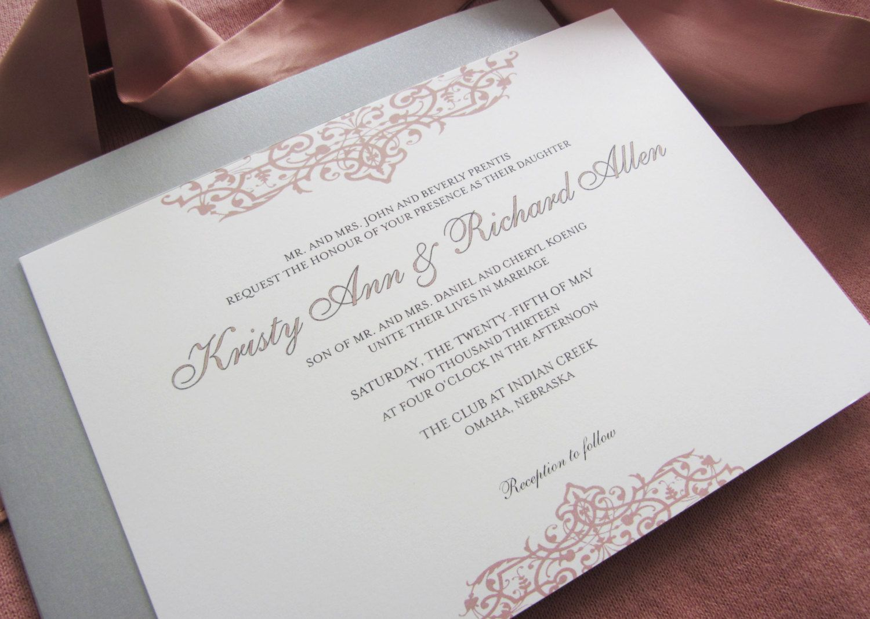 SALE: Printable Wedding Invitation - Top Bottom Flourish. $25.00 ...
