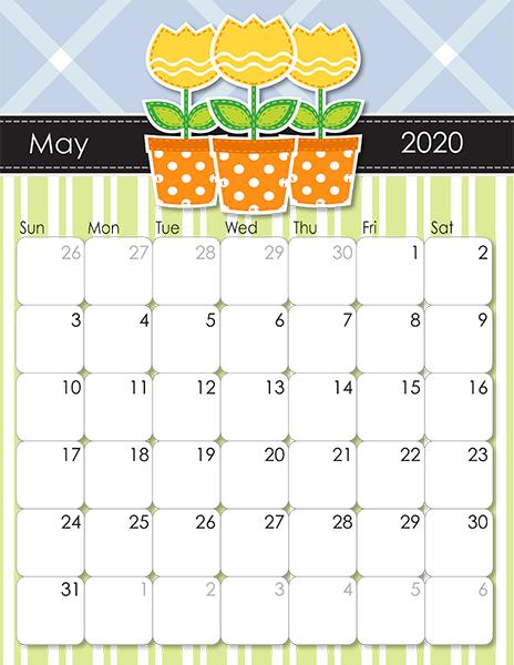 2020 and 2021 Whimsical Printable Calendars for Moms   iMom