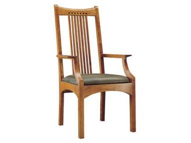 Stickley Dining Room Spindle Arm Chair 91 2043 A   Woodbridge Interiors    San
