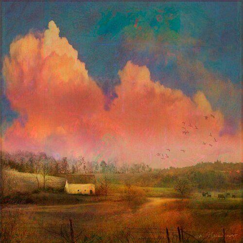 Leinwandbild Pastoral Sunset von Chris Vest East Urban Home Größe 46 cm H x 46 cm B