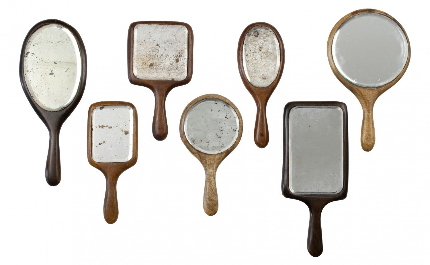 Antiqued Hand Mirrors -- hang on wall in group