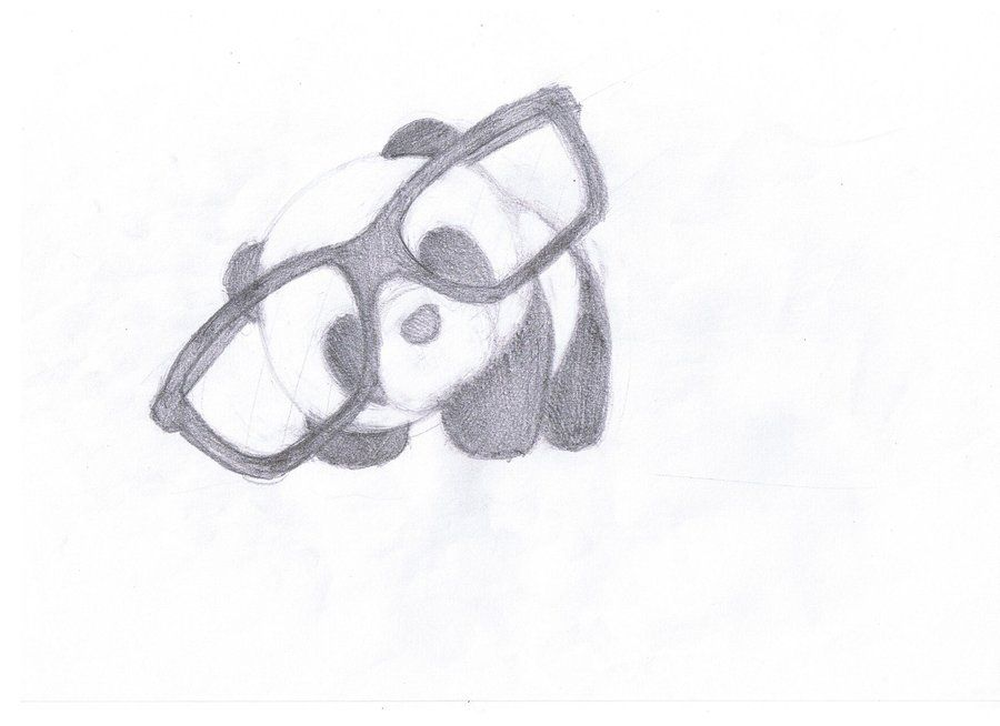 Panda With Glasses By Nheckscar On Deviantart With Images