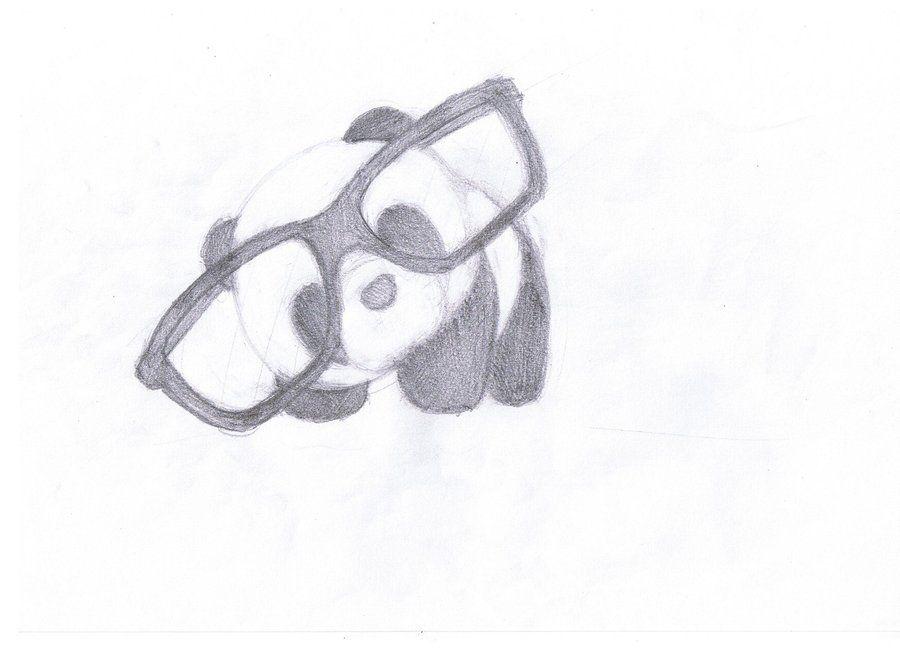 Panda with Glasses by ~Nheckscar on deviantART | ME ...