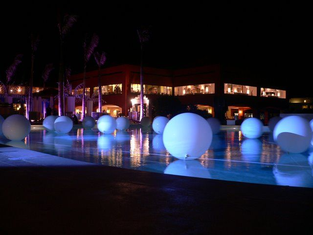 Pool Party Lighting Ideas image of best outdoor party lights White Party Idea White Balloons In Pool