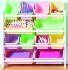 Delicieux Cannon Kids Organizer 12 Bin White/Pastel Made By Real Home