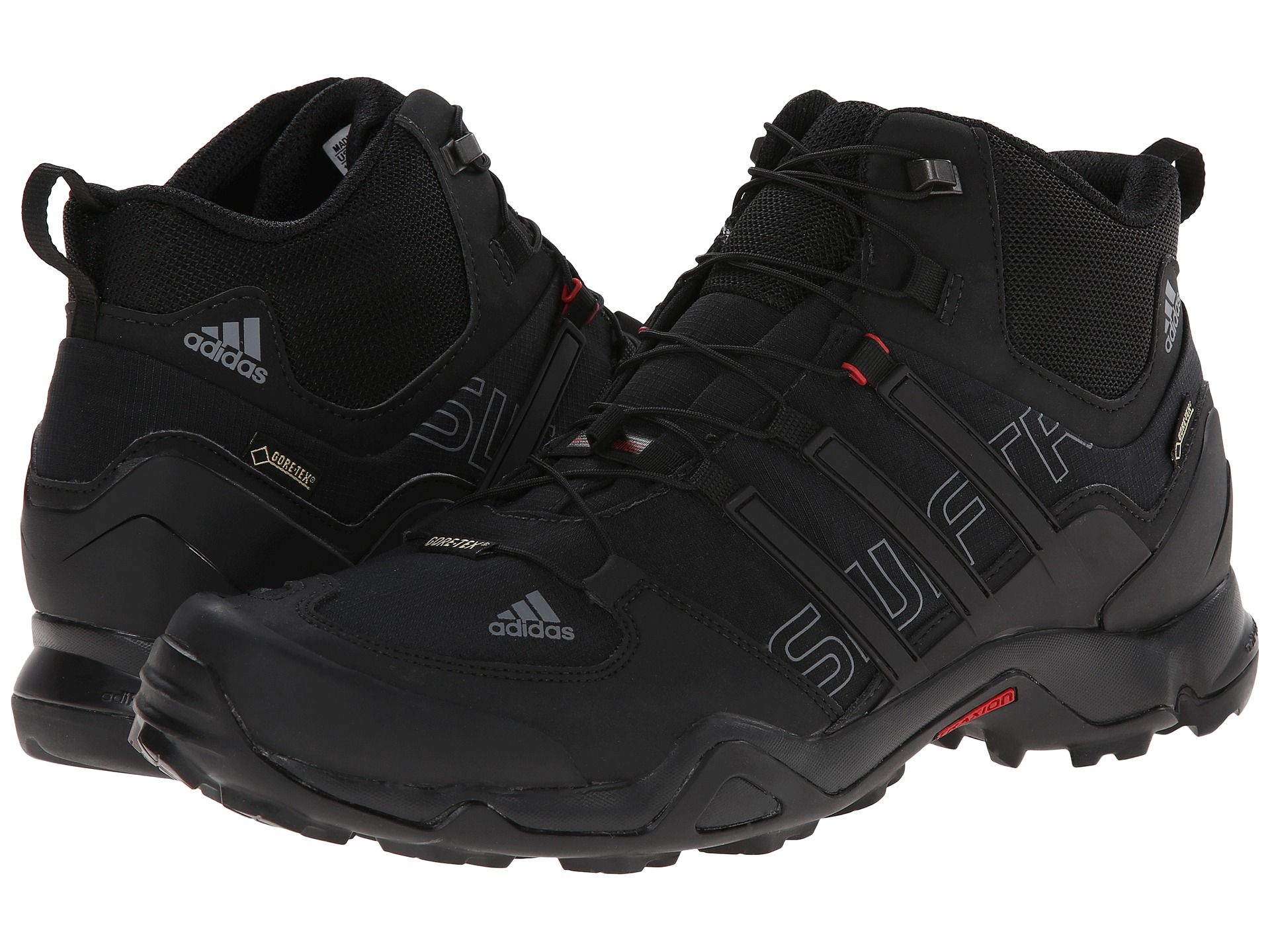59458c246d59e adidas Outdoor Terrex Swift R Mid GTX® Black University Red - Zappos ...
