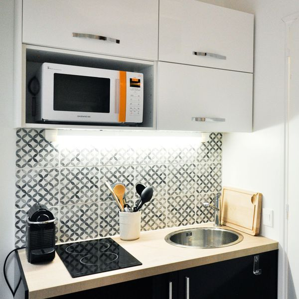 Amenagement Kitchenette: Studio étudiant Paris 18 : Un Duplex De 19m2 Fonctionnel