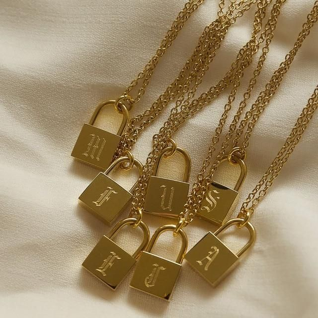 👸🏻👸🏾👸🏼 Calling all Goddesses: Meet your A-Z Old English Lock Necklace - a keepsake to cherish forever. In other words, it solves the 'finding the perfect gift' challenge! Order now and we'll ship it worldwide for free. 😎 Special Offer: Buy two or more necklaces for you or a loved one and get 10% off today! High-quality metal: handcrafted steel base metal with 18k gold or Silver plating Won't tarnish fade or turn color Hypoallergenic: won't irritate or colourize your ears or skin - we've t