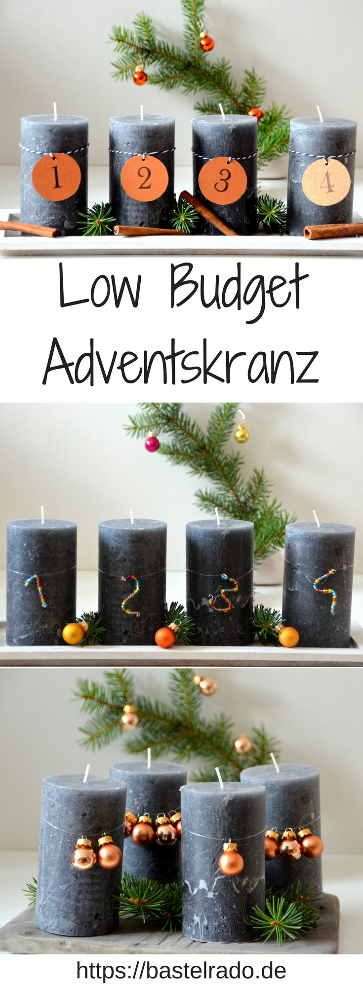 Photo of 3 x low budget advent wreath – DIY instructions
