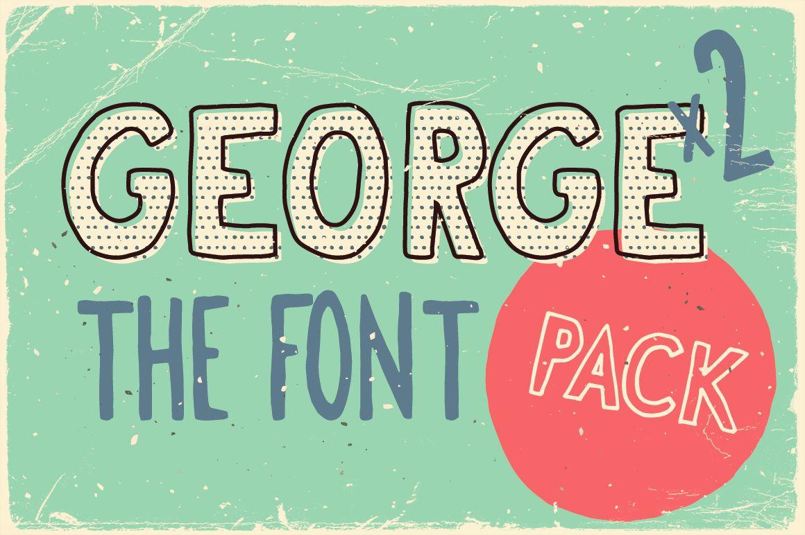 Download George & Francis Font Pack + Handdrawn shapes (326 ...
