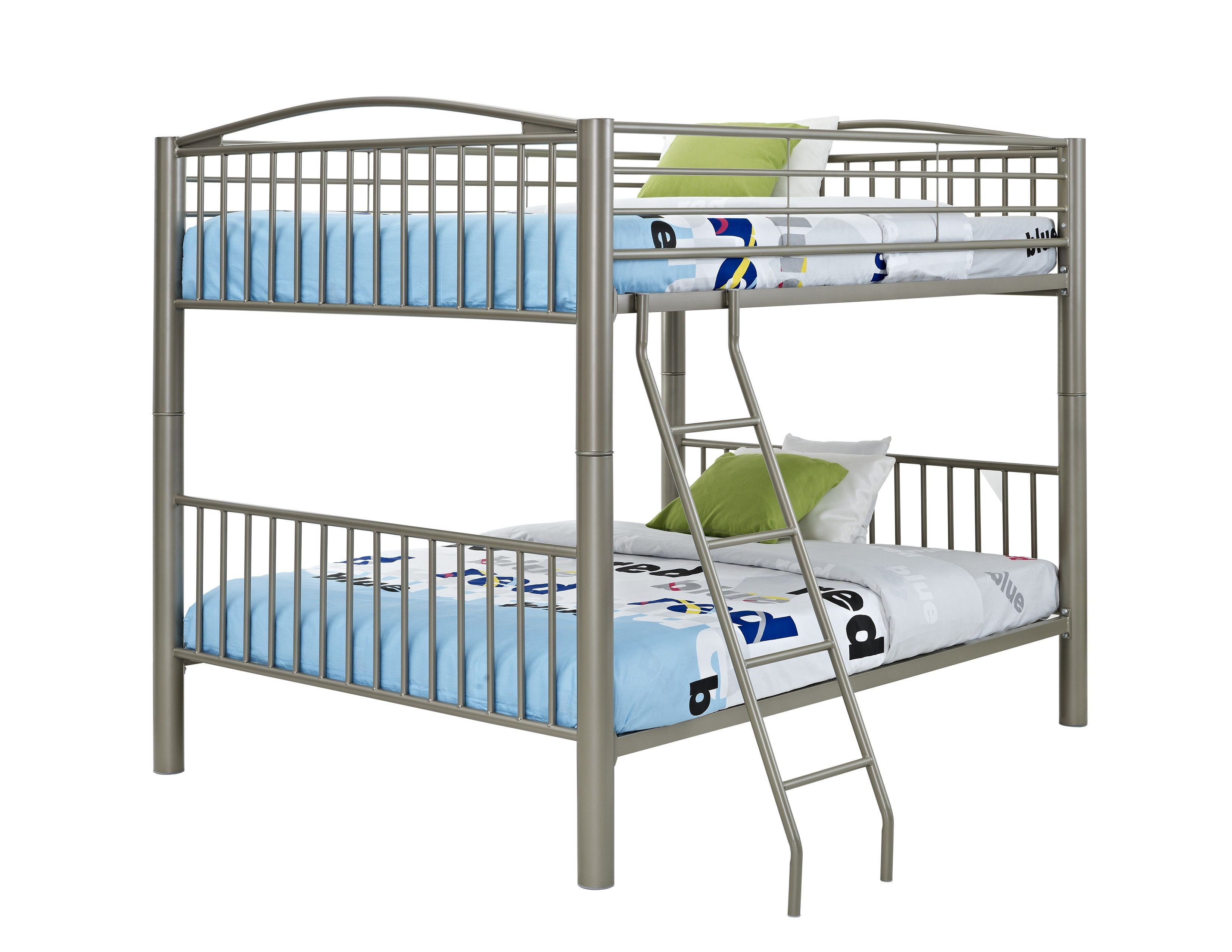 Powell Heavy Metal Pewter Full Over Full Bunk Bed