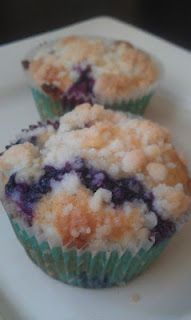 Browned butter blueberry muffins
