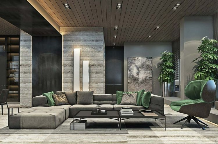Graue Möbel Für Eine Elegante, Monochrome Einrichtung Im Modernen Stil.  Architecture Interior DesignDesign InteriorsModern ...
