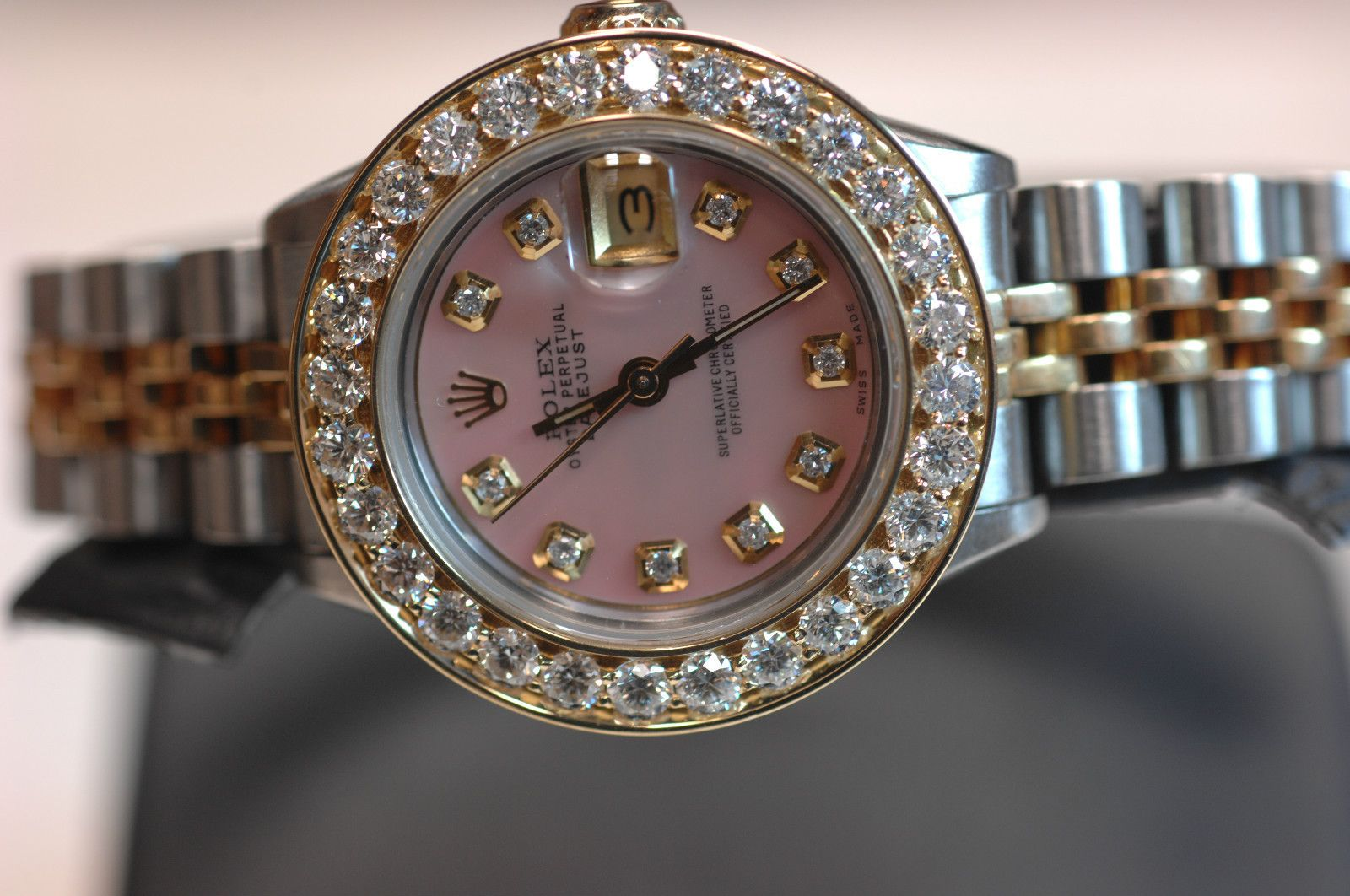 Rolex Datejust Women's Diamond Bezel