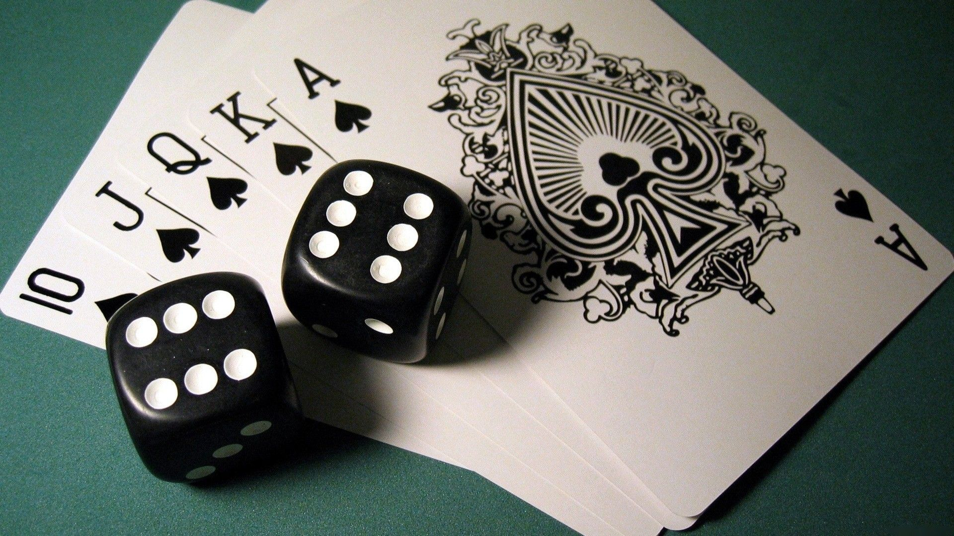Love Playing Cards And Dice Wallpaper HD