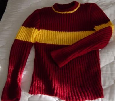 """The Quidditch sweater will fit ladies with a 38"""" (96.8 cm"""