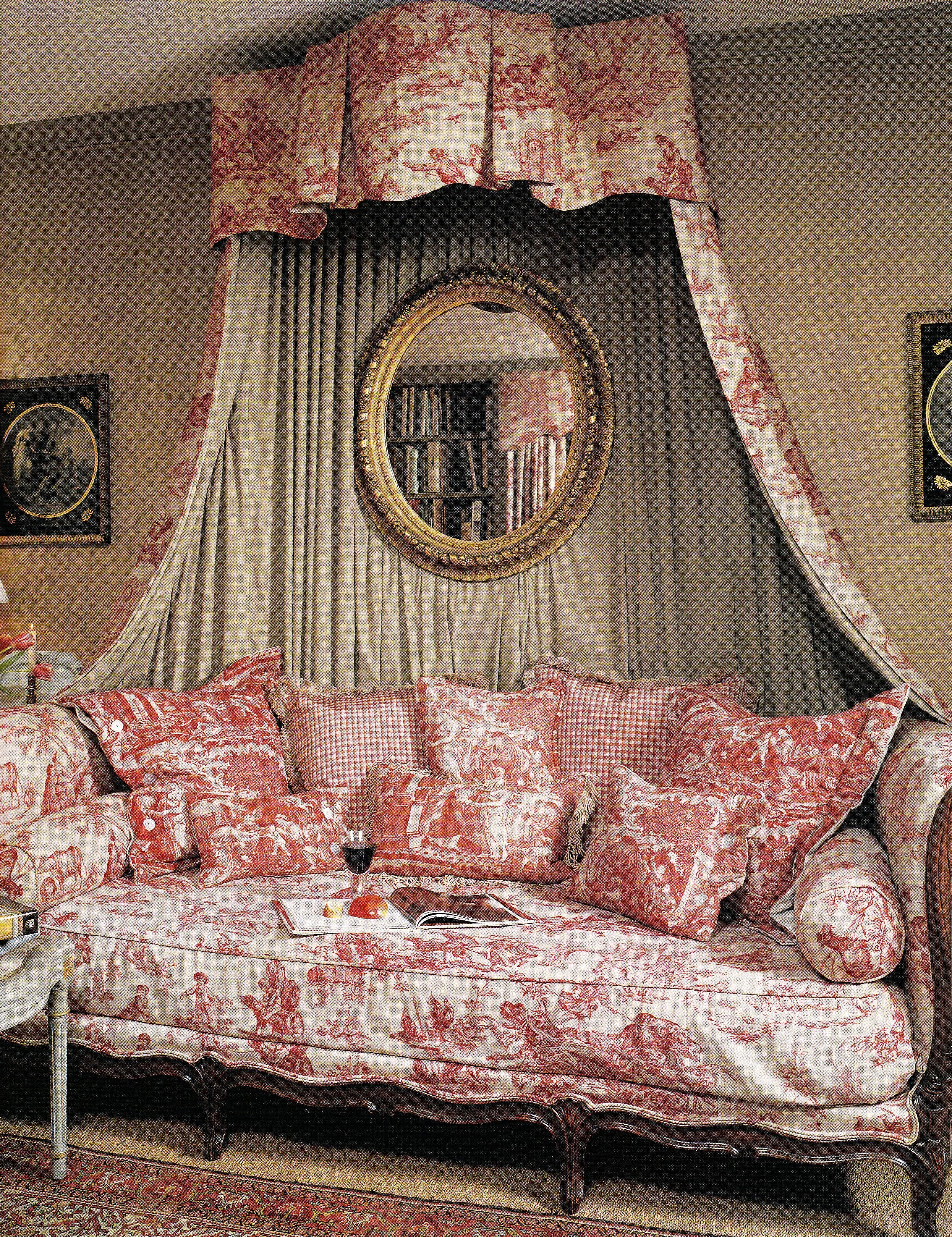 French Country bedroom...lovely toile bedding toile
