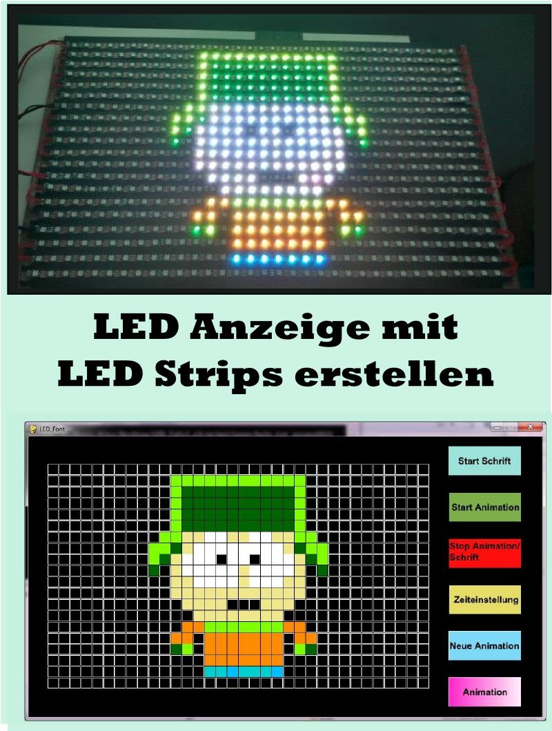 led strip anzeige matrix mit arduino teensy aufbauen diy. Black Bedroom Furniture Sets. Home Design Ideas