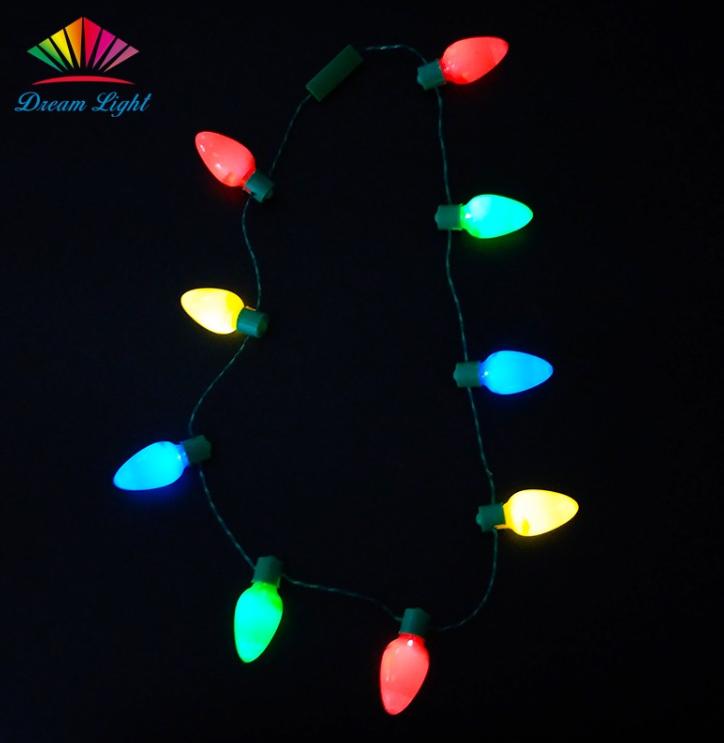 9pcs Jumbo Led Bulb Necklace Light Up Christmas Necklace View Led Christmas Bulb Necklaces Dream Light Product Details From Shenzhen Dream Light Technology Co Christmas Necklace Led Bulb Led Necklaces