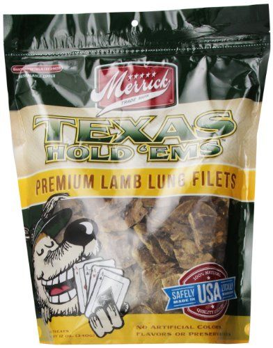 Merrick Texas Hold Em S Lamb Lung Fillets Training Treats For Dogs
