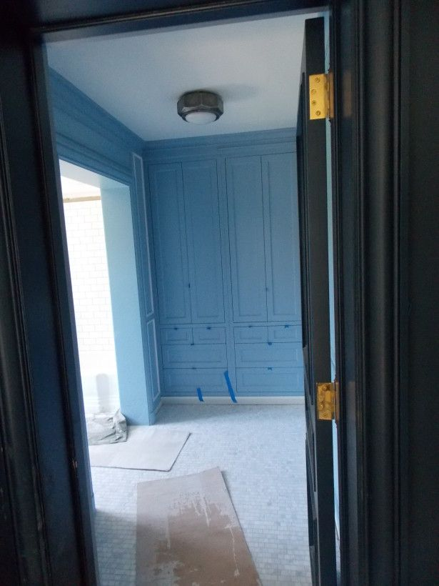 Son Bathroom Lulworth Blue Built Ins Project Greenbay