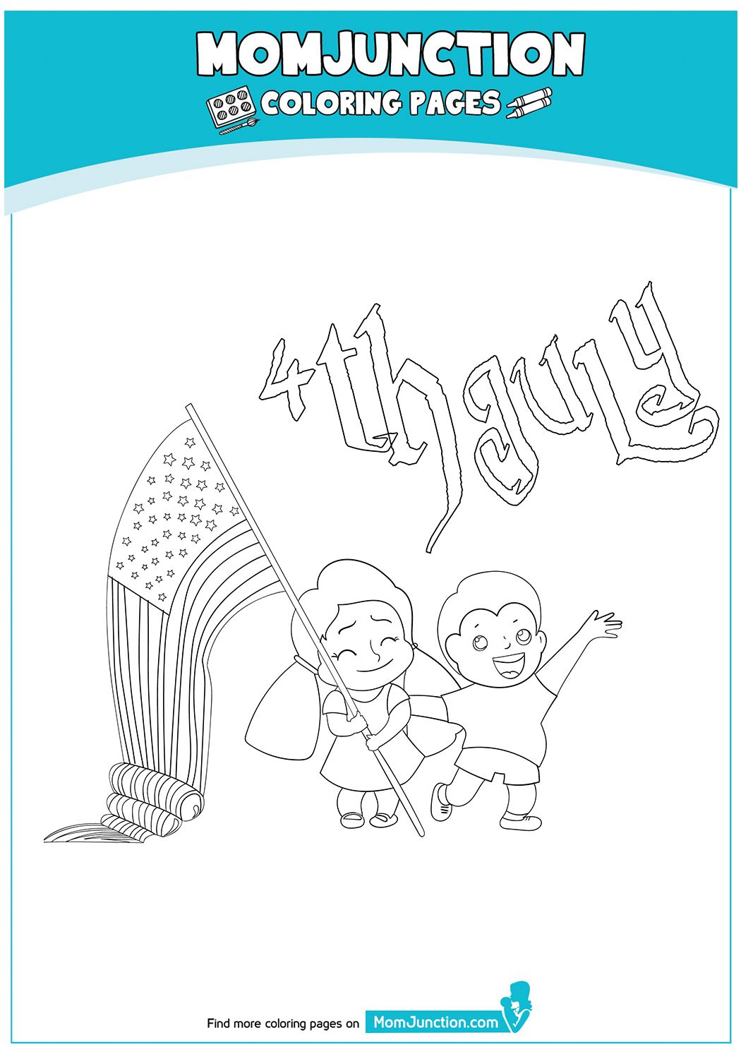 Independence Day Sign 17 Coloring Pages Coloring Pages For Kids Free Coloring Pages [ 1500 x 1050 Pixel ]