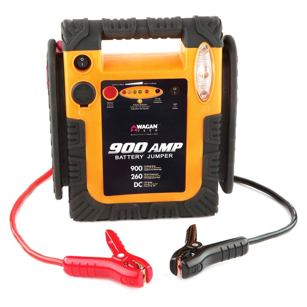 Wagan 900Amp Battery Jumper with Air Compressor Truck