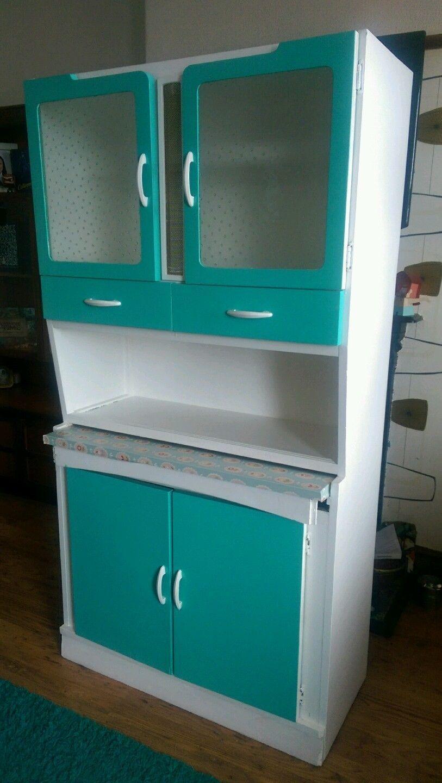 Vintage Retro 50s 60s Kitchen Cabinet Larder Kitchenette Dresser Mid ...