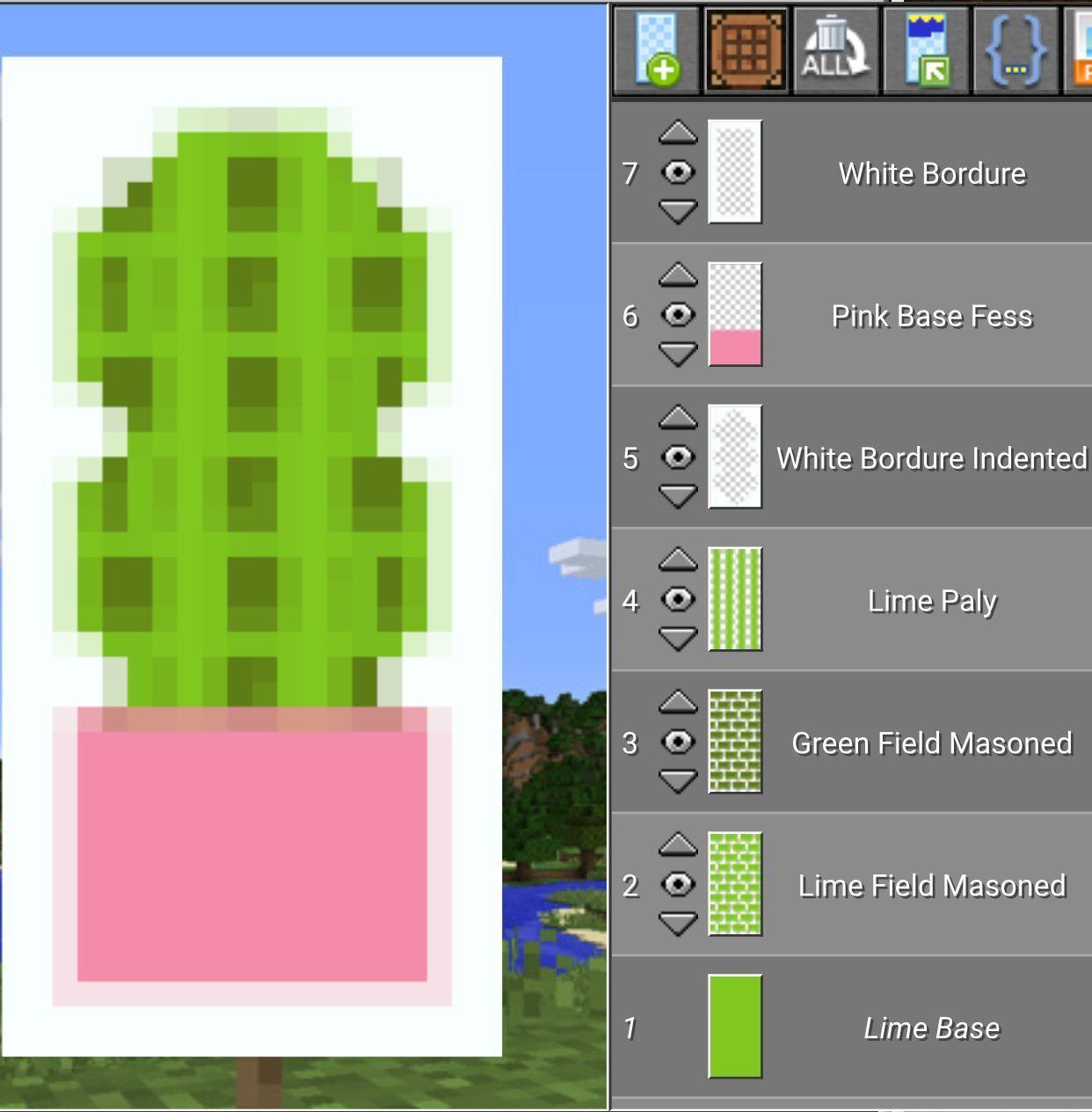 Minecraft Cactus Pot Banner ☀︎ Minecraft banner I always