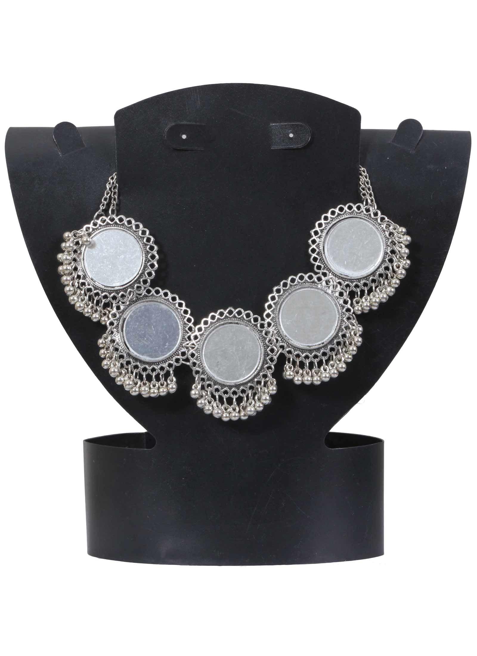 cd1b21815 Circular Mirror Work Designer German Silver Necklace Product code:  JUJA90N011 Retail price: 505/- Sale price : 458/-