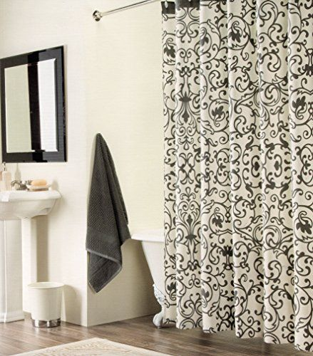 Robot Check Cotton Shower Curtain White Shower Black Curtains