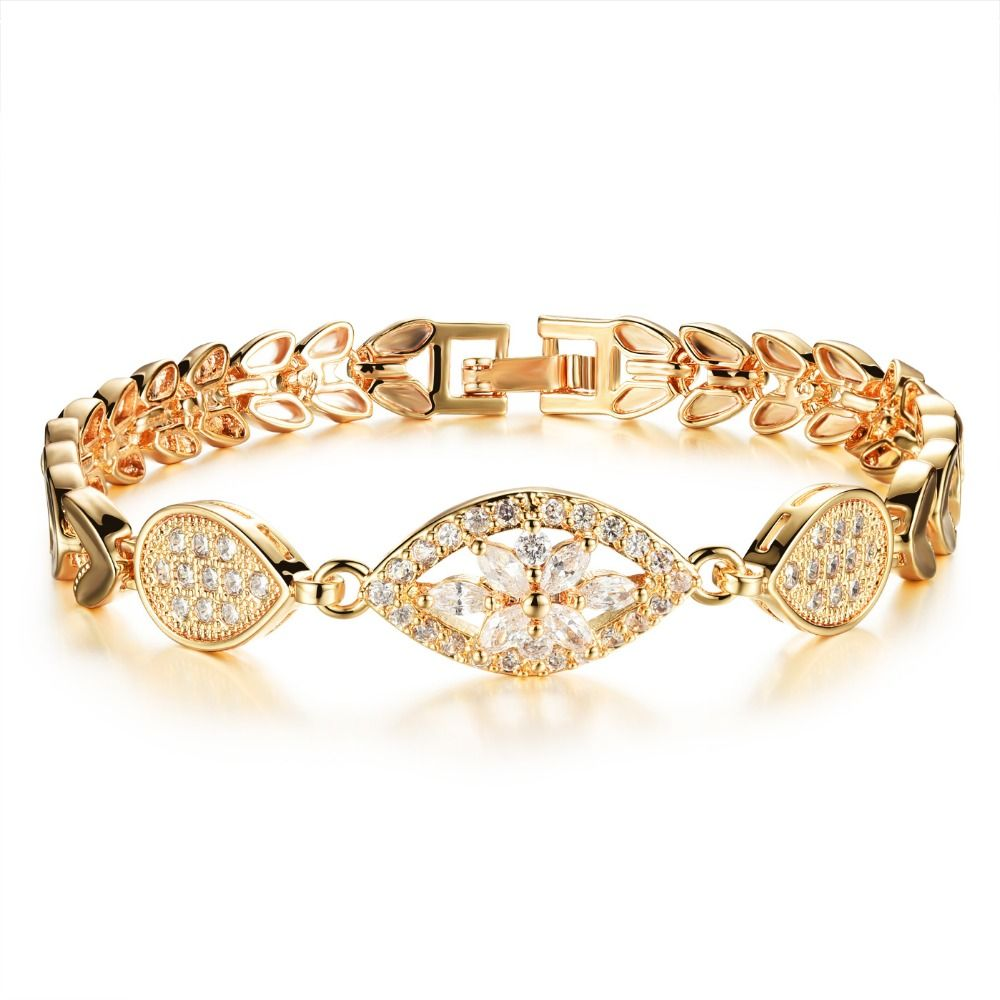 new style trendy gold plating charm bracelets for women lady