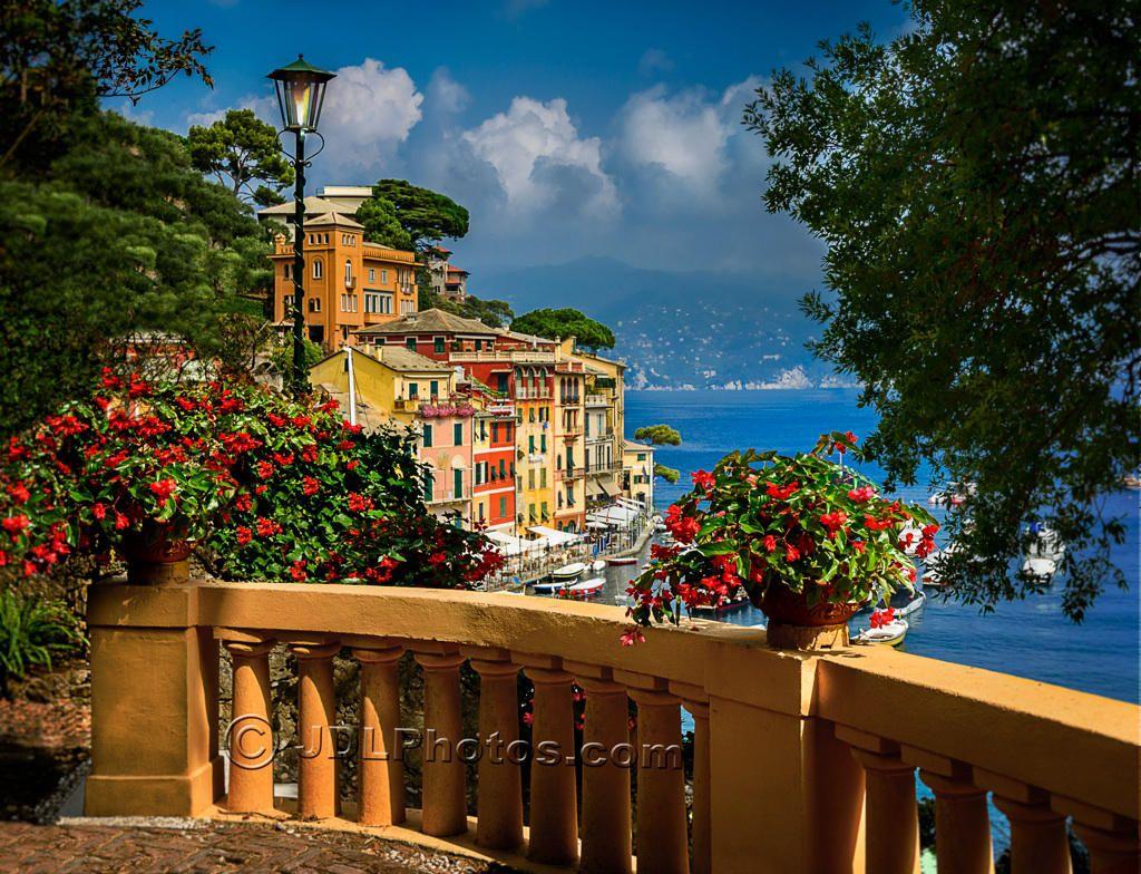 Looking over Portofino by Jim DeLutes