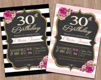 Free Birthday Ideas For Her ~ Th birthday invitation th birthday invites th th th