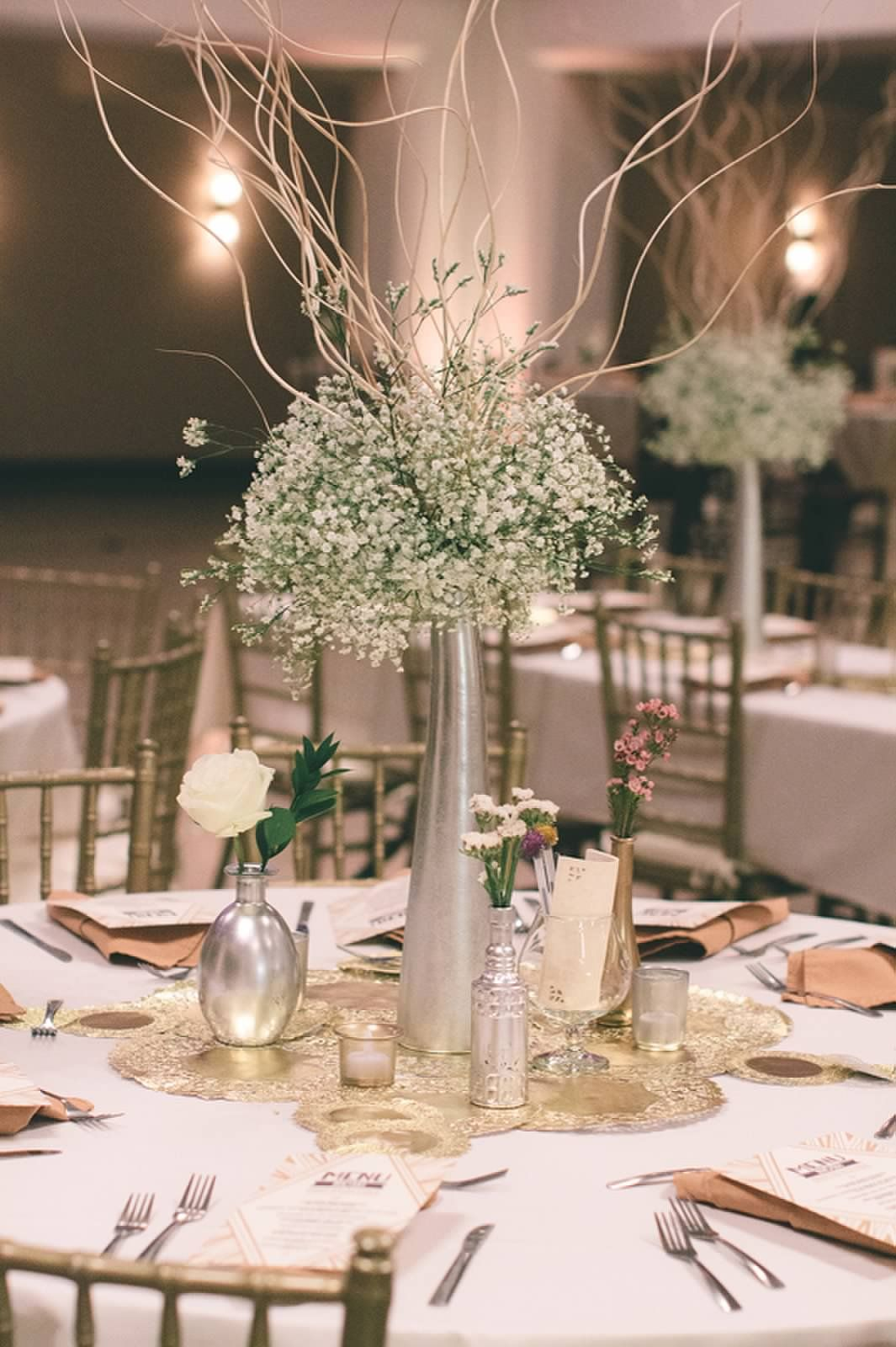 tall centerpiece round table in 2019 curly willow