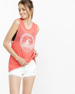 express one eleven here today graphic tank from EXPRESS