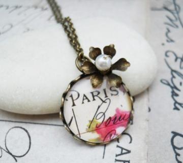 Paris in Spring Necklace by adornamenta for $18.00