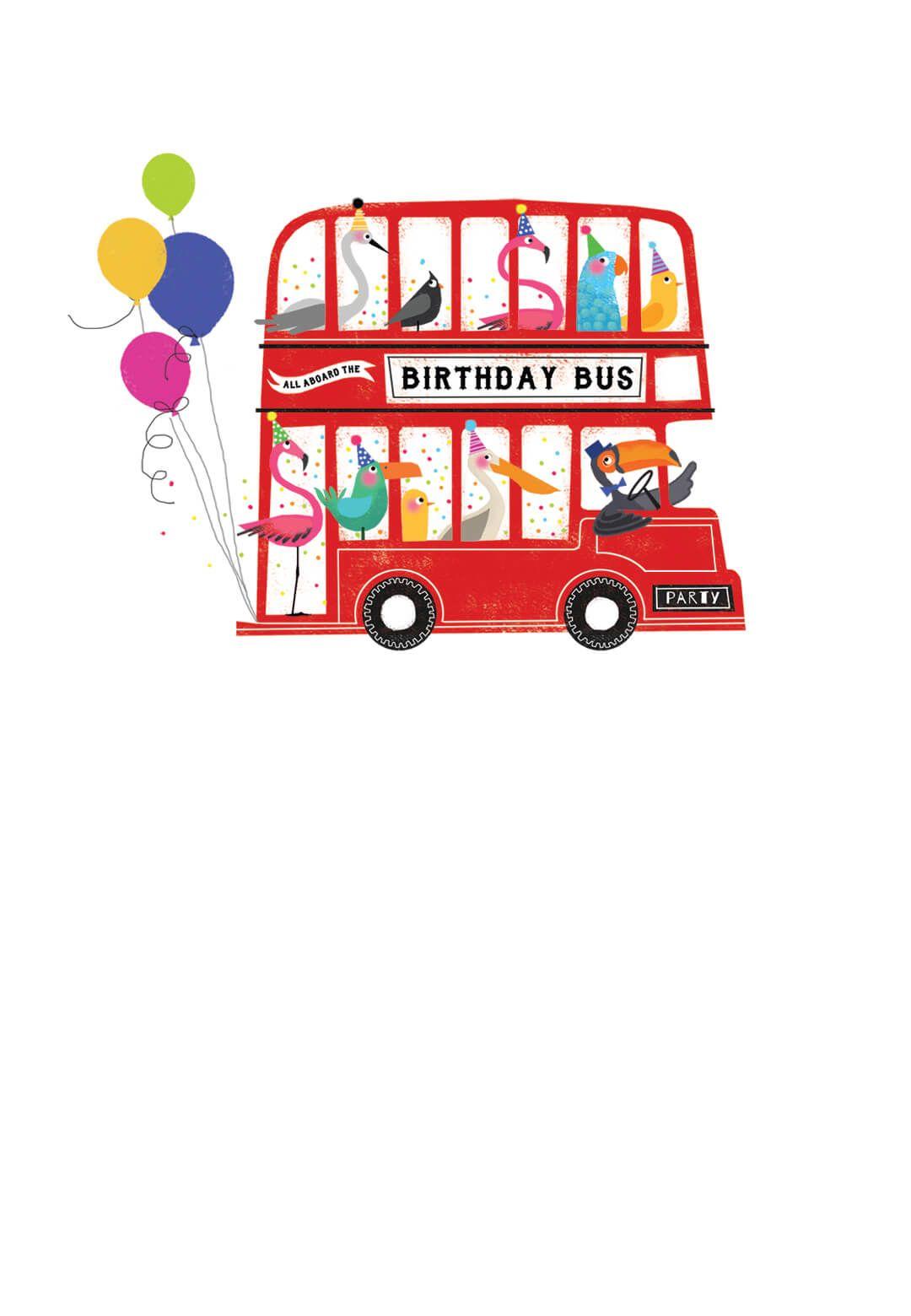 Happy Birthday Friends Bus