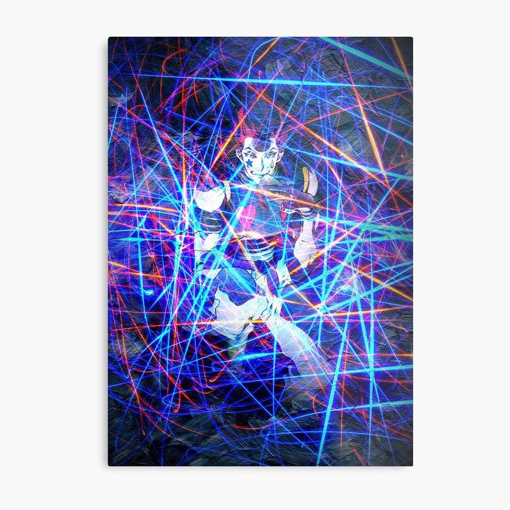 Anime manga villain clown magician abstract art neon